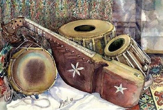 Afghanischer Musikunterricht